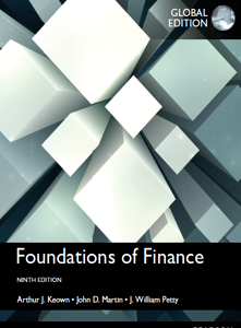Foundations of Finance 9th Global Edition Book