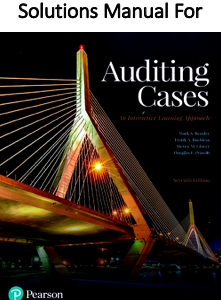 Instructor`s Solutions Manual for Auditing Cases An Interactive Learning Approach Book 7th Edition