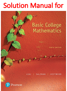 Solutions Manual for Basic College Mathematics