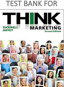 Test Bank for THINK Marketing 2nd Edition Book