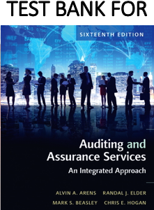 Test Bank for Auditing and Assurance Services 16th Edition Book