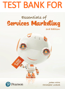 Test Bank for Essentials of Services Marketing 3rd Edition Book
