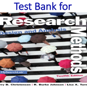 Test Bank for Research Methods, Design, and Analysis 12th Edition