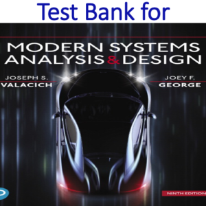 Test Bank for Modern Systems Analysis and Design 9th Edition