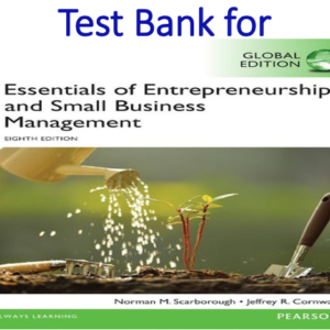 Test Bank for Essentials of Entrepreneurship and Small Business Management 8th Edition